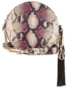 Amanda Wakeley Raspberry Python Round Shoulder Bag