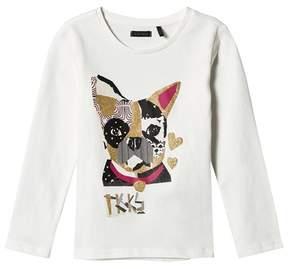 Ikks White French Bulldog Print Tee