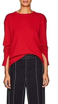 Cédric Charlier Women's Rounded-Hem Wool-Cashmere Sweater