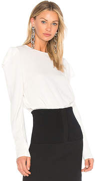 Tibi Savannah Drape Sleeve Top
