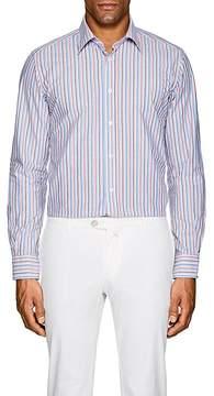 Luciano Barbera Men's Striped Cotton Shirt