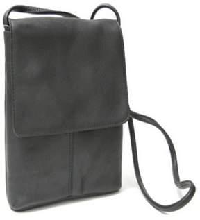 Royce Leather Royce Flap Over Crossbody Handbag