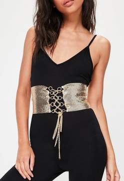 Missguided Gold Chain Mail Belt