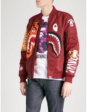 A Bathing Ape Tiger Shark shell bomber jacket