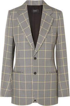 Joseph Grimaud Prince Of Wales Checked Cotton Blazer - Gray