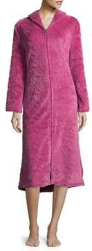 Karen Neuburger Textured Long Sleeve Robe