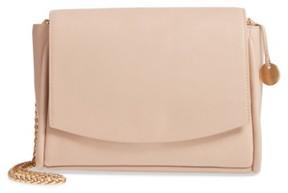 Skagen Sylvi Calfskin Leather Crossbody Bag - Beige