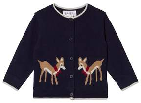 Rachel Riley Navy Deer Print Cardigan