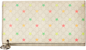 Gucci White Gg Supreme Canvas Stars Continental Wallet - ONE COLOR - STYLE