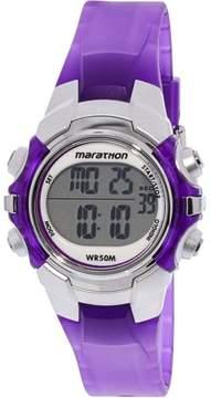 Timex Women's Marathon T5K816 Purple Resin Quartz Sport Watch
