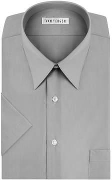 Van Heusen Short-Sleeve Poplin Dress Shirt - Big & Tall