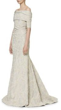 Carolina Herrera Jacquard Evening Gown