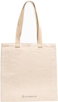 Jute Shopper Tote Bag