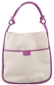 Hogan Leather-Trimmed Shoulder Bag w/ Tags