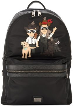 Dolce & Gabbana 'Vulcano' Designers patch backpack
