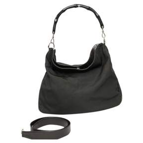 Gucci Bamboo cloth handbag - BLACK - STYLE