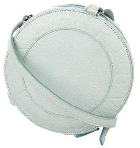 Bvlgari Grained Leather Circle Crossbody Bag