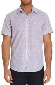 Robert Graham El Carmelo Floral-Striped Short-Sleeve Sport Shirt