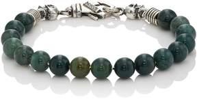 Emanuele Bicocchi Men's Green Quartz Beaded Bracelet