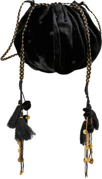 Ulla Johnson Black Velvet Tassel Bag
