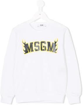 MSGM flaming logo sweatshirt