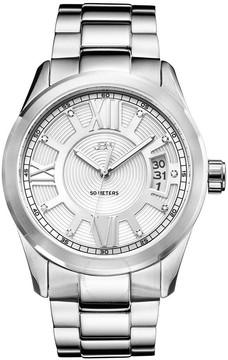 JBW Bond Silver Dial Diamond Men's Watch