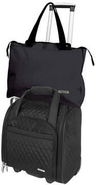 Travelon Travel Caddy Inc Wheeled Underseat Carry-On with Back-Up Bag