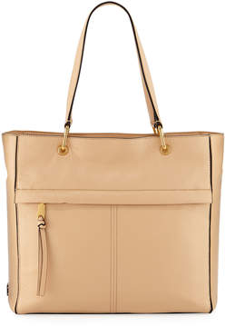 Cole Haan Kathlyn Leather Zip-Top Work Tote Bag, Nude