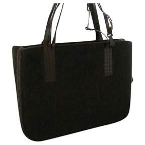 Chanel Vintage Brown Tweed Handbag