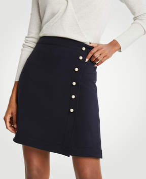 Ann Taylor Pearlized A-Line Doubleweave Skirt