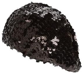 Steve Madden Women's Sequin Beret - Black