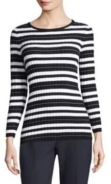 Peserico Striped Cotton Sweater