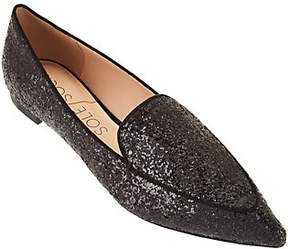 Sole Society Glitter Slip-on Pointed Toe Flats- Cammila