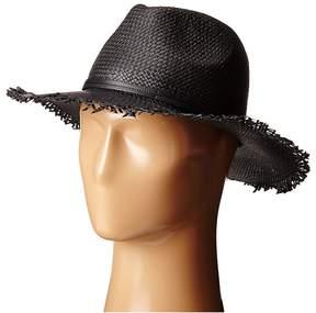 BCBGMAXAZRIA Frayed Panama Hat