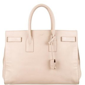 Saint Laurent Large Sac De Jour Tote - NEUTRALS - STYLE