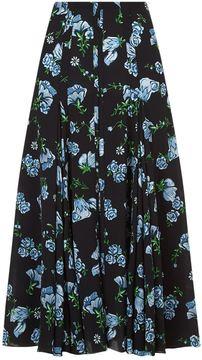 Emilia Wickstead Mercia Floral Print Skirt