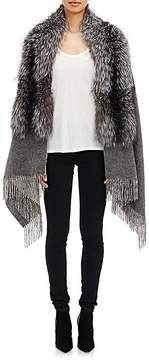 Barneys New York Women's Fox Fur-Collar Cape