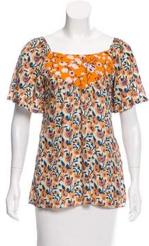 Calypso Floral Short Sleeve Top