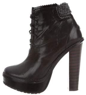 Opening Ceremony Leather Platform Ankle Boots