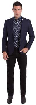 Nick Graham Men's Slim-Fit Navy (Blue) Textured Sport Coat
