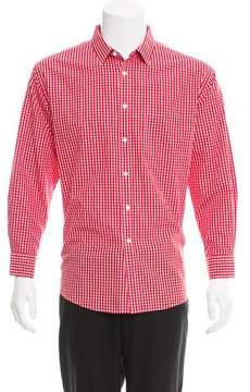 Neiman Marcus Gingham Button-Up Shirt w/ Tags