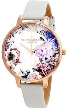 Olivia Burton Enchanted Garden Grey Dial Ladies Watch
