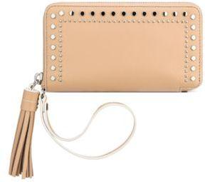 Anne Klein Tasseled Leather Wristlet