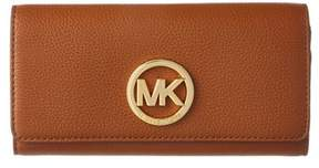 MICHAEL Michael Kors Fulton Leather Wallet. - LUGGAGE - STYLE