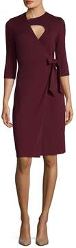 Ava & Aiden Women's Solid Wrap Dress
