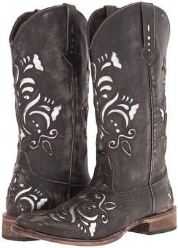 Roper Laser Cut Metallic Underlay Boot Cowboy Boots