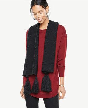 Ann Taylor Tassel Knit Scarf