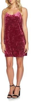 CeCe Women's Mia Crushed Velvet Slipdress