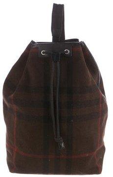Burberry Wool Nova Check Backpack
