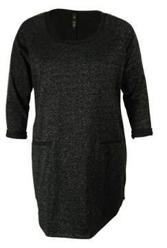 Jessica Simpson Juniors' Metallic Sweater Dress (1X, Black)